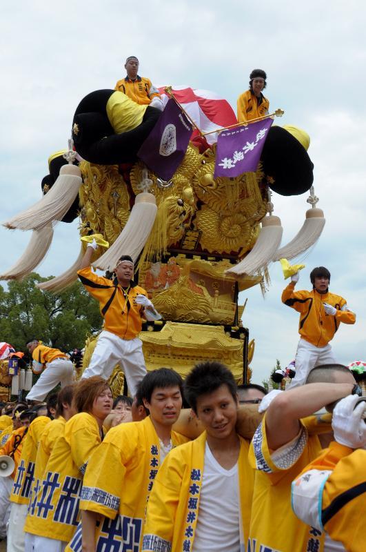 新居浜太鼓祭り 上部地区 山根グラウンド 松木坂井太鼓台
