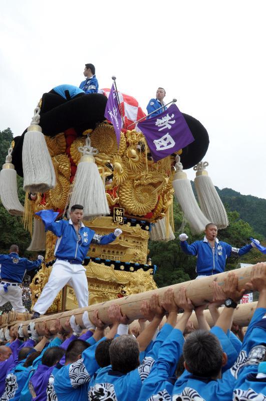 新居浜太鼓祭り 山根グラウンド統一寄せ 新田太鼓台