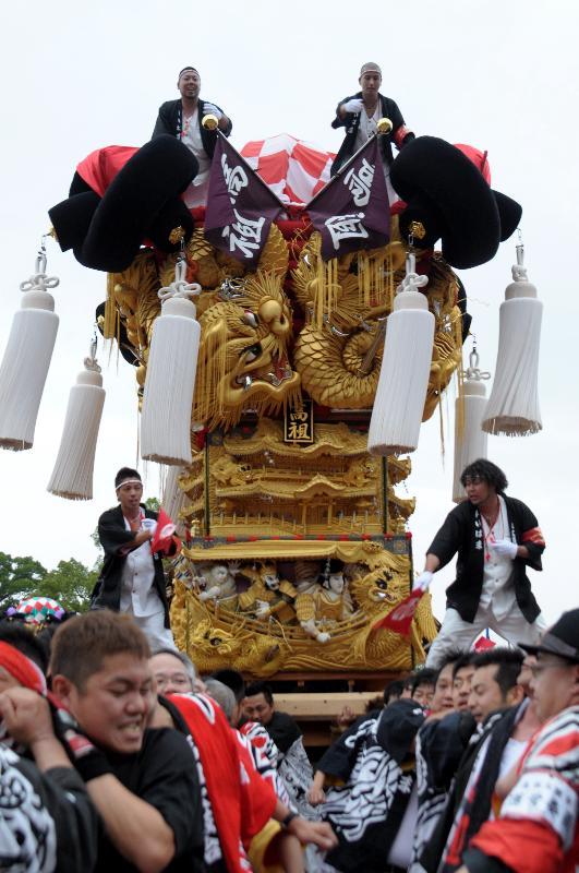 新居浜太鼓祭り 山根グラウンド 上部船木地区 高祖太鼓台