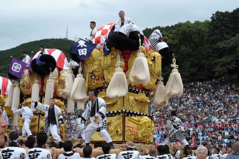 新居浜太鼓祭り 上部地区統一寄せ 東田太鼓台