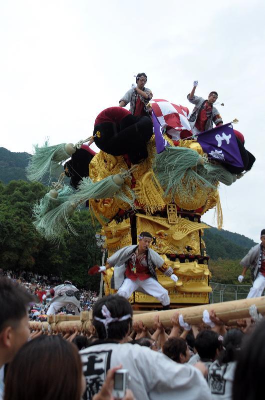 新居浜太鼓祭り 山根グラウンド 上部中萩地区 土橋太鼓台