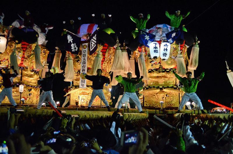 新居浜太鼓祭り 上部地区 大生院  夜太鼓