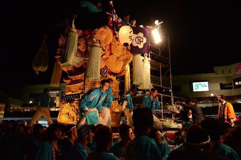 新居浜太鼓祭り 川西地区 イオンモール 江口太鼓台