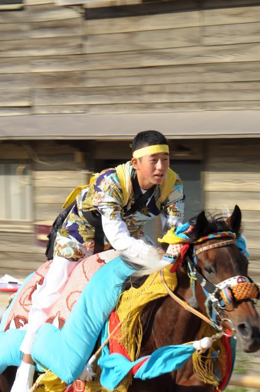 今治市菊間町 加茂神社 お供馬の走り込み