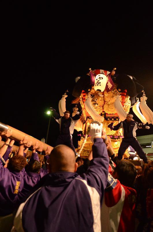 新居浜太鼓祭り 川西地区 イオンモール夜太鼓 西原太鼓台