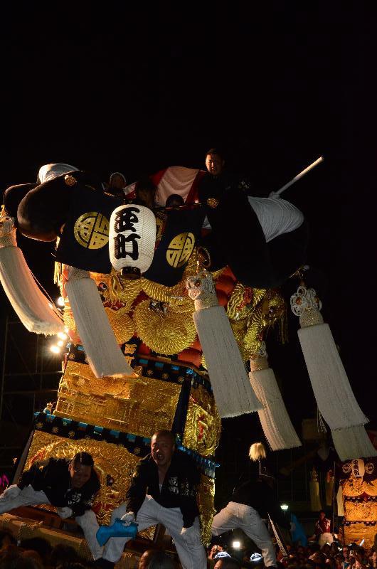 新居浜太鼓祭り 川西地区 イオンモール夜太鼓 西町太鼓台