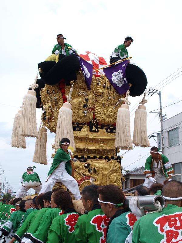 新居浜太鼓祭り 川東地区 多喜浜駅前 阿島太鼓台