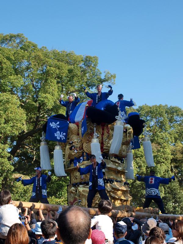 新居浜太鼓祭り 川東西部地区 八旗神社 東雲太鼓台