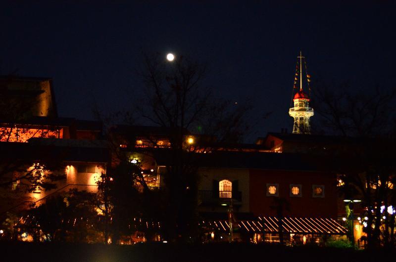 神戸市 神戸港 ハーバーランド モザイク周辺の夜景