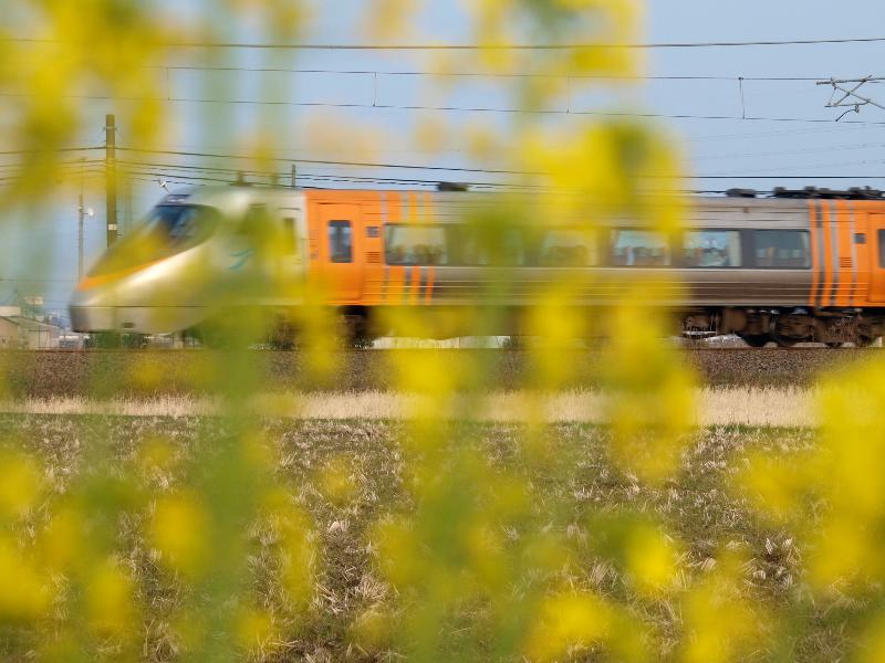 西条市 沿線を走る特急電車