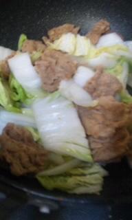 大豆ミート、炒め