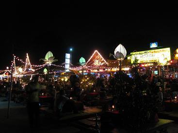 タイ・サムイ島・天気・チャウエンビーチ夜