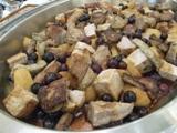 鹿野産豚肉ロースト、徳佐りんご添え
