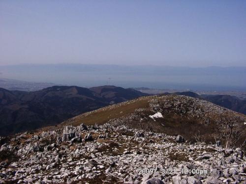 16 霊山三角点から琵琶湖