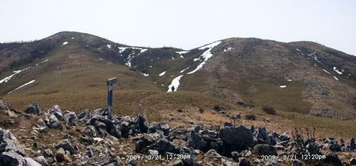 19 経塚山にて霊山の最高点~三角点