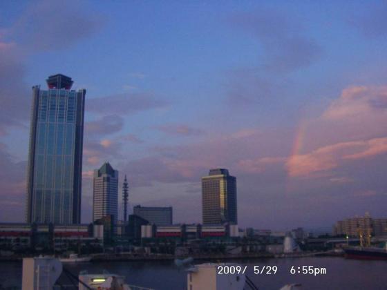 01 南港と虹