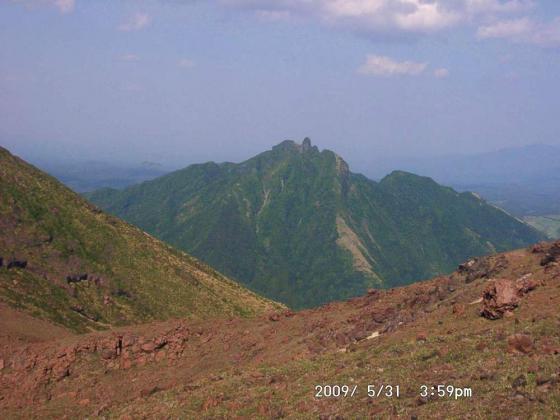14 中岳途中にて根子岳