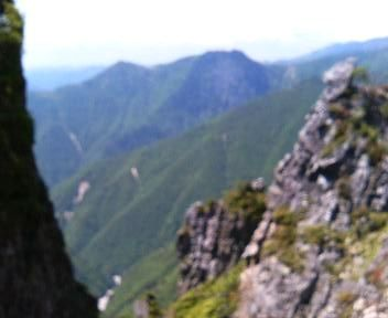 05 孔雀岳途中から七面山