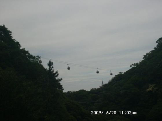 05 曇り空に浮かぶゴンドラ