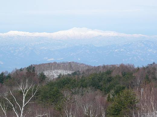 白山の山並み