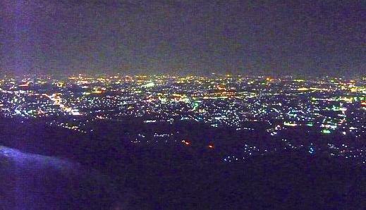 交野山岩座の夜景