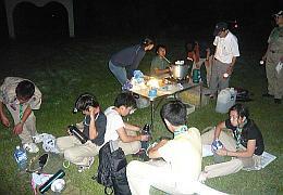 キャンプ大阪で夜食