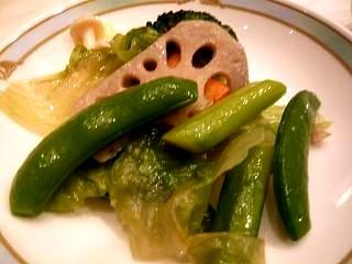 花梨(中国野菜の炒め物取り分け)