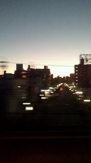 朝焼け名古屋駅