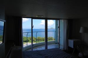 ホテルから伊江島