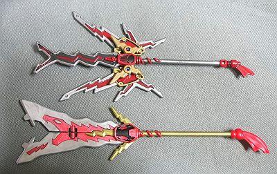 雷装張飛と張飛の武器
