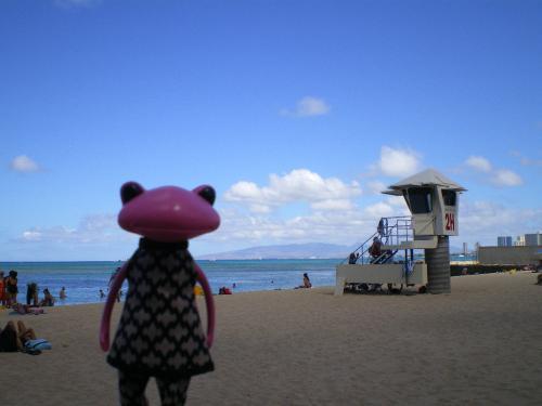 ラナイの外の海