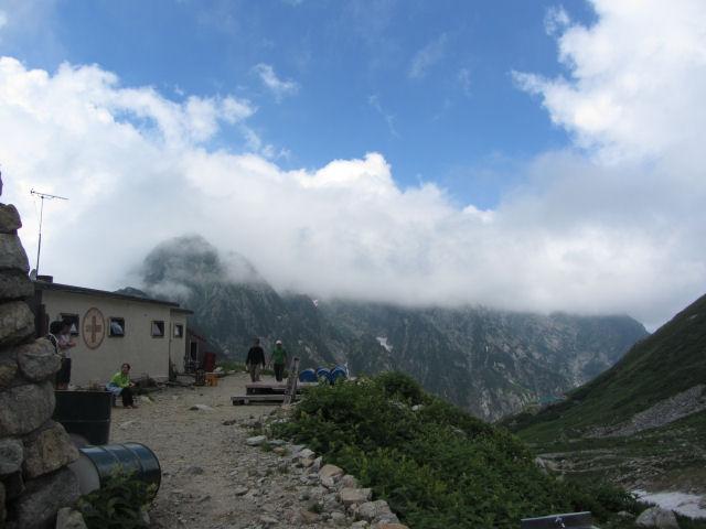 剱沢から剱岳方向