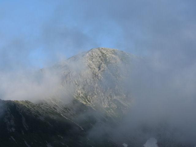 剣山荘から別山北峰
