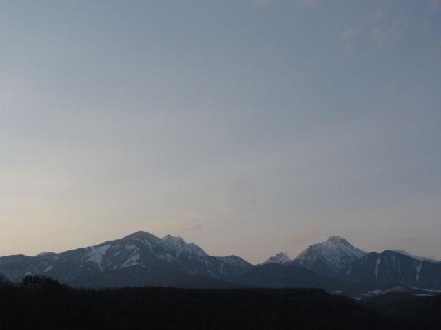 八ヶ岳夕方