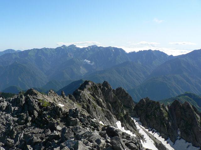 白馬岳方向