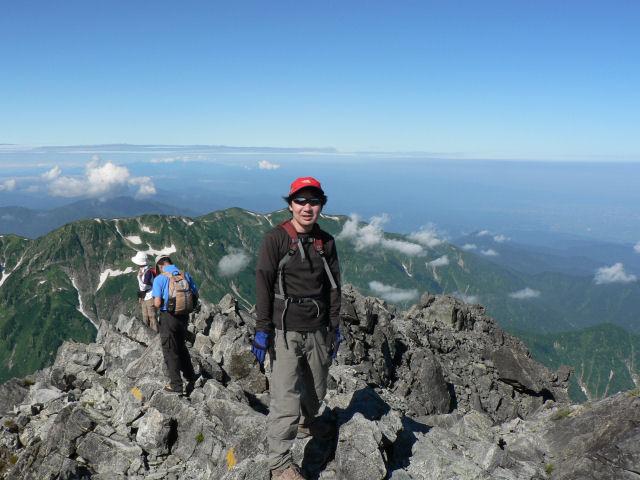 山頂~富山湾方向