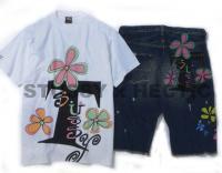 STUSSY x HECTIC コラボTシャツ&デニムパンツ