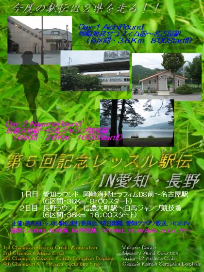 第5回レッスル駅伝ポスター