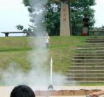 モデルロケット発射