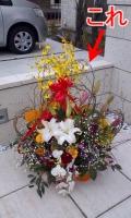 オープンの際いただいたお花