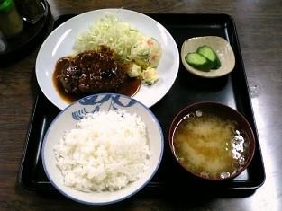 山田ホームレストラン本日の定食Aハンバーグ'08秋003