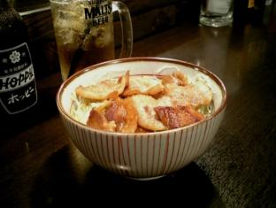 あべちゃんやきとん 上州豚 豚バラ丼 白ホッピー003