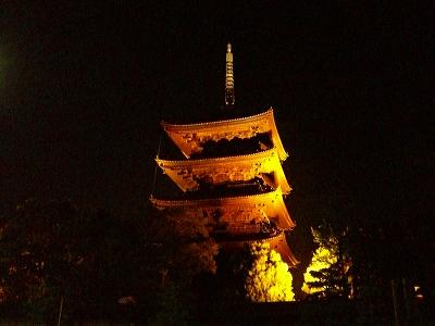 東寺(夜)