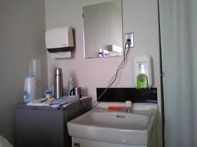 個室の洗面