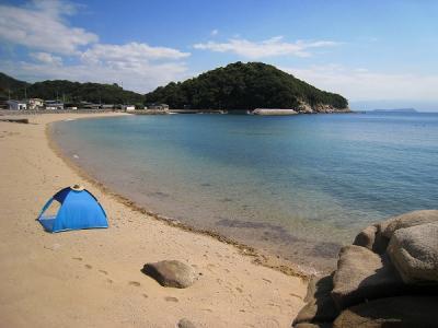 仁老浜海岸テント