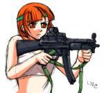 銃を描く練習
