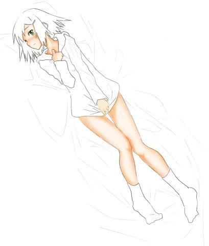 秀吉抱き枕ちょっと塗り02