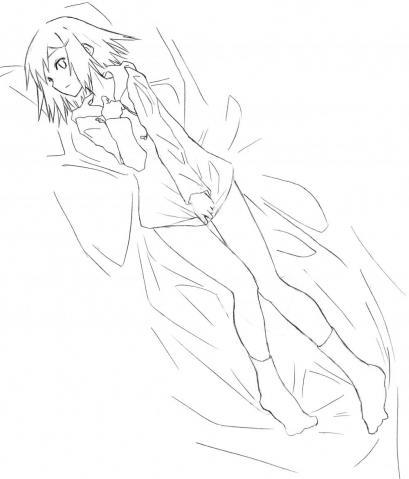 秀吉抱き枕線画