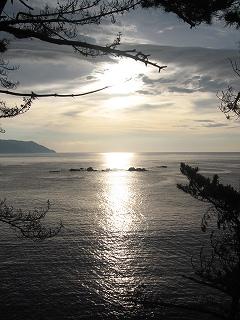 碁石海岸の朝日