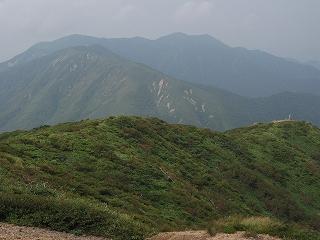 流石山、三倉山方面